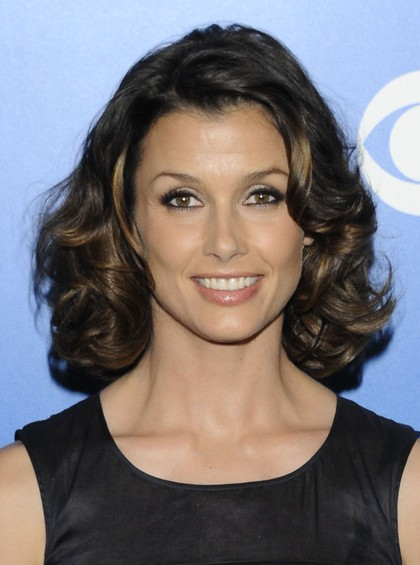 Bridget Moynahan Medium Spiral Curls Ombre Hairstyles
