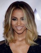 Ciara Ombre Medium Hairstyle 2013