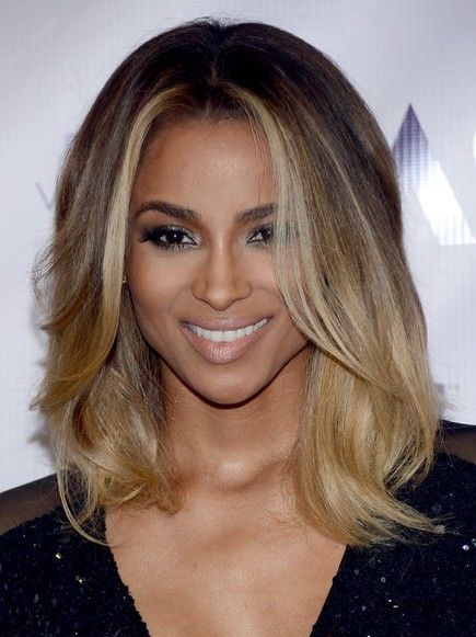 Ciara Ombre Medium Hairstyle 2013 | Popular Haircuts