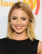 Dianna Agron Blonde Long Bob Haircuts