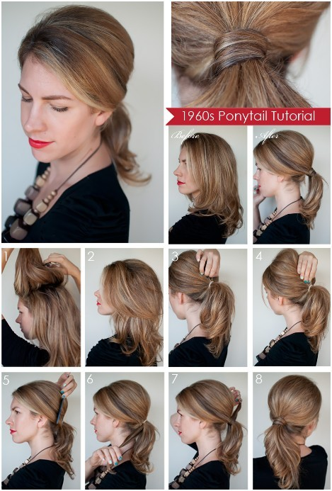 Diy Ponytail Hairstyles for Medium, Long Hair - PoPular Haircuts