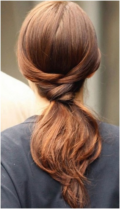 Surprising Easy Ponytail Hairstyles For Long Hair Straight Hair Trends Hairstyles For Men Maxibearus