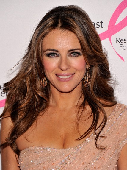 Elizabeth Hurley, Long, Layered Haircuts