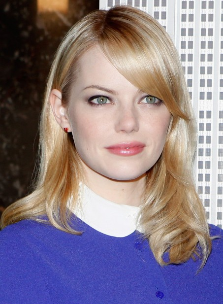 Emma Stone Sleek Straight Shoulder Length Hairstyles