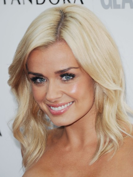 Katherine Jenkins Wavy Blonde Hairstyles 2013 Popular
