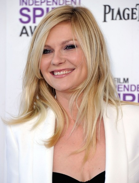 Kirsten Dunst Round Face Hairstyles For Long Hair
