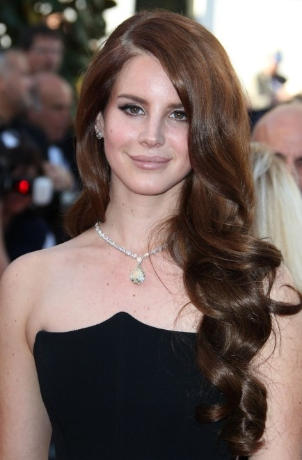Formal, Curly Hairstyle: Lana Del Rey Long Haircut/PacificCoastNews