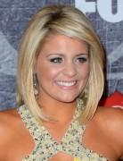 Lauren Alaina Medium Layered Bob Hairstyles 2013