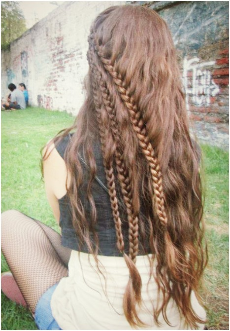 Strange Hairstyles For Long Hair Braids Tumblr Picturefuneral Program Designs Hairstyle Inspiration Daily Dogsangcom