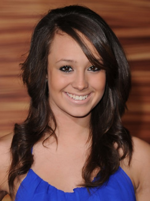 Groovy Long Brown Hair Styles With Side Bangs Caitlyn Taylor Love Short Hairstyles Gunalazisus