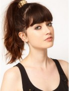 Long, Ponytail Hairstyles with Bangs