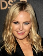 Malin Akerman Blonde Medium Curly Hairstyles 2013