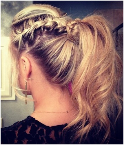 Messy Braid, Ponytail Hairstyles Trends
