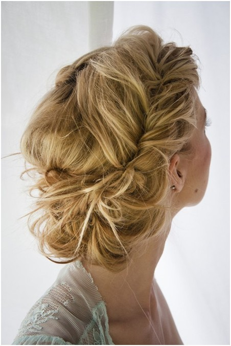 Messy Braid Updo for Long Hair, Prom Hairstyles