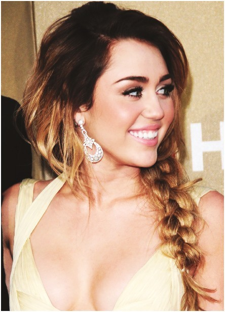 Messy, Braided Hairstyles for Long Hair, Miley Cyrus Haircut