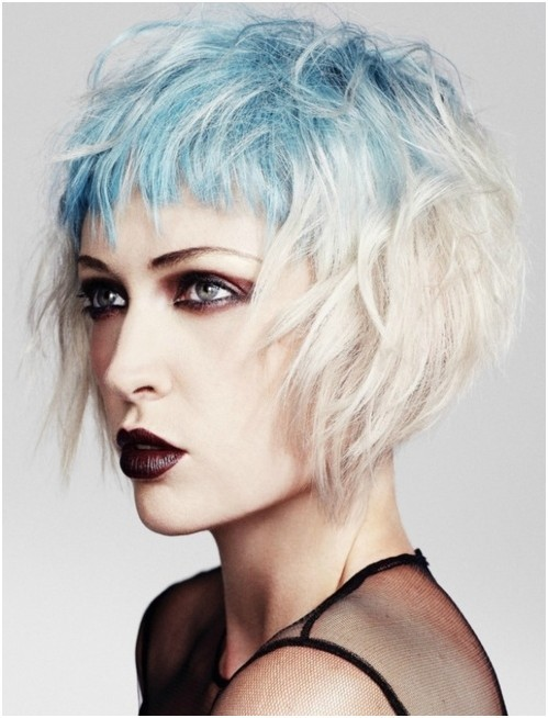 Messy, Short Layered Hair Styles, Ombre Hairstyles