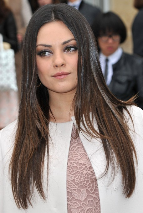 Mila Kunis, Ombre Long Hairstyles for Straight Hair