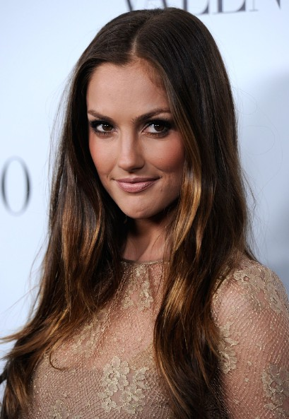 Minka Kelly Ombre Straight Hair Popular Haircuts
