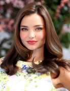 Miranda Kerr Sleek, Wavy, Formal Medium Hairstyles 2013