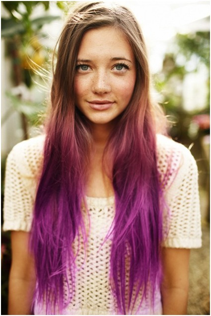 Ombre Long Straight Hair for Girls, Easy Hairstyles
