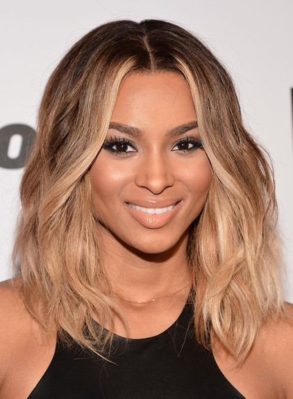 Ciara Medium Hairstyle Ombre Hair