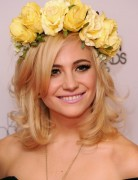 Pixie Lott Blonde, Wavy, Medium Hairstyles for Prom 2013