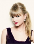 Ponytail Hairstyles with Blunt Bangs, Taylor Swift Hair Styles