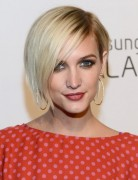 Short, Blonde Bob Hairstyles with Side Bangs, Ashlee Simpson Wentz Hair