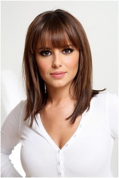 Astonishing Straight Medium Hairstyles With Blunt Bangs Easy Haircuts Short Hairstyles For Black Women Fulllsitofus
