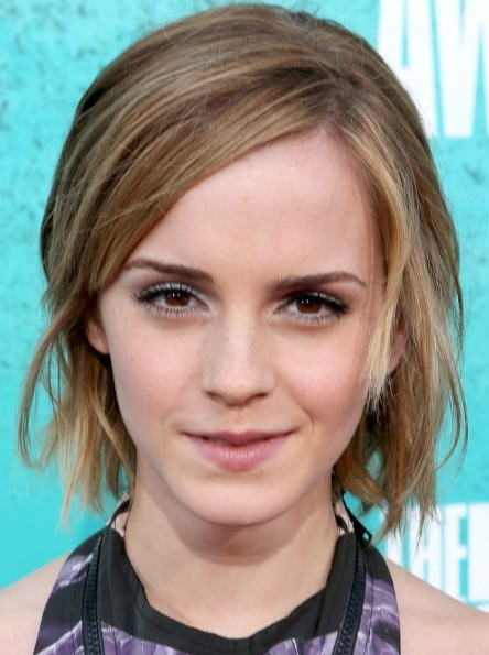 Straight Short Hairstyles 2013 Emma Watson Bob Haircut
