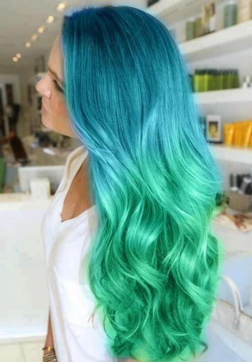 Blue Ombre Hair Color