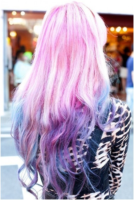 Long Ombre Hairstyles Funky Hair Color Ideas Popular