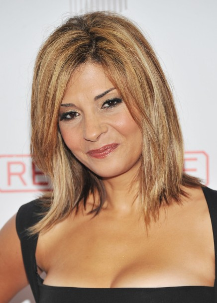 Admirable Trendy Straight Medium Hairstyles With Side Bangs Callie Thorne Short Hairstyles For Black Women Fulllsitofus