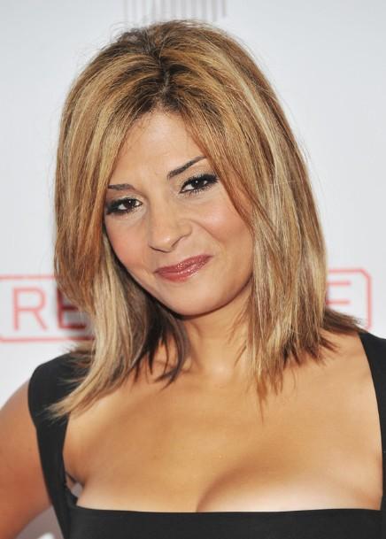 Sensational Trendy Straight Medium Hairstyles With Side Bangs Callie Thorne Short Hairstyles Gunalazisus