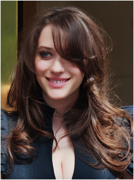 Wavy Hairstyles for Long Hair with Bangs