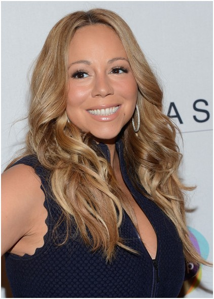 Brown, Long Wavy Haircuts Trends, Mariah Carey Hairstyle