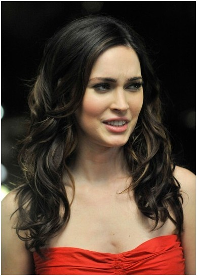 Curly Hairstyle For Long Hair Megan Fox Haircut Popular