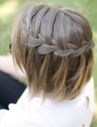 Hair Styles Romance, Waterfall Braid in Short Hair