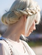 Milkmaid Braid for Long Hair,Bun Hairstyles
