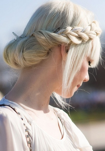 Milkmaid Braid for Long Hair Prom Bun Hairstyles
