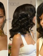 Special Bouncy Wavy Hairstyle, Rihanna Long Hair