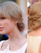 Taylor Swift Updo Hairstyles, Long Hair for Prom
