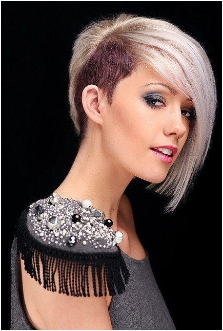 Picture of Trendy, Blunt Short Haircuts, Platinum Blonde Hairstyles ...