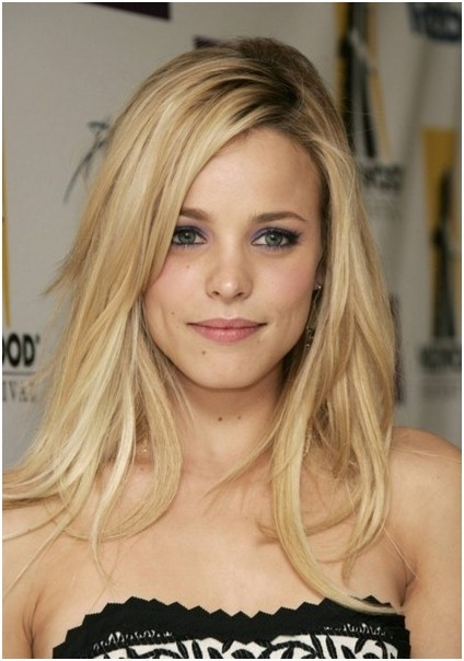 Blonde Long Layers On Medium Length Hair
