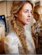 Blonde, Messy Fishtail Braids, Long Hair Trends