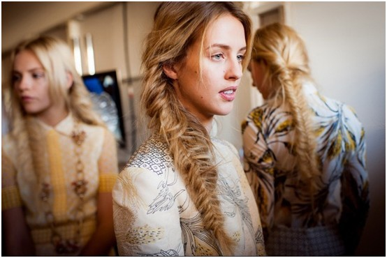 Blonde, Messy Fishtail Braids, Long Hair Trends
