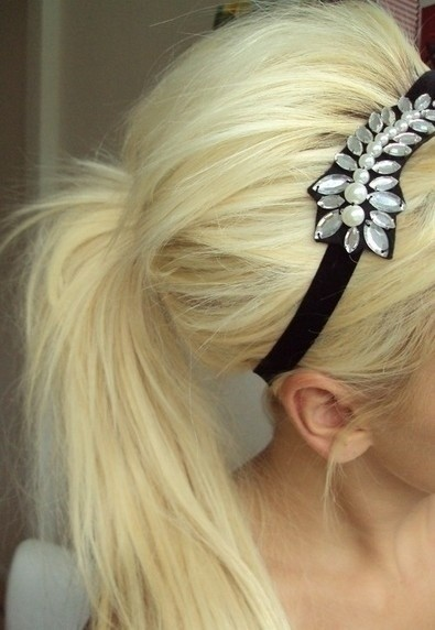Blonde, Ponytail Hair Styles with Head Band