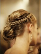 Braided low messy bun for Medium, Long Hair