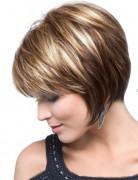 Chin-Length, Texture Bob Haircut