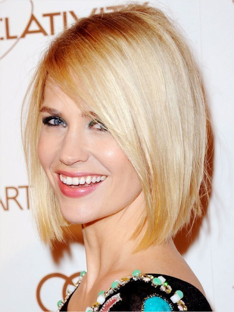 Classic Blunt Bob Hairstyles Blonde Straight Hair Popular